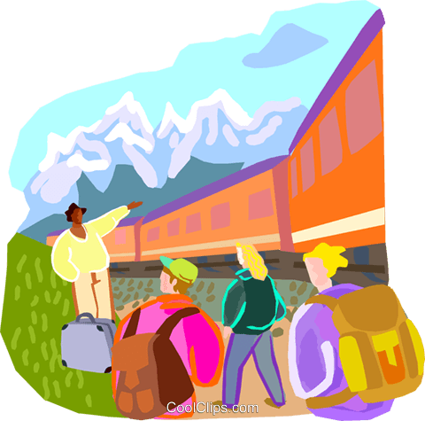 travel and vacations Royalty Free Vector Clip Art illustration vc001406
