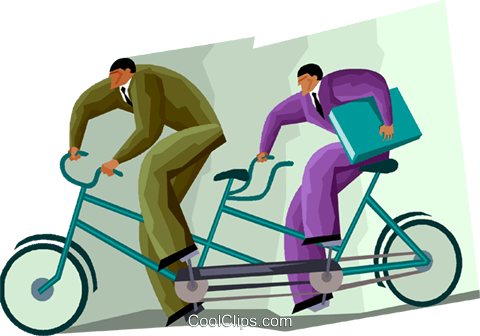 business concepts, teamwork Royalty Free Vector Clip Art illustration vc001416