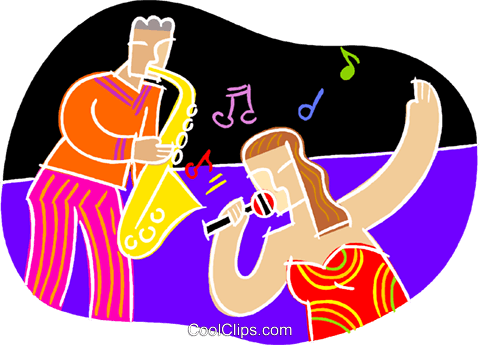 chalk style, musician and singer Royalty Free Vector Clip Art illustration vc001466
