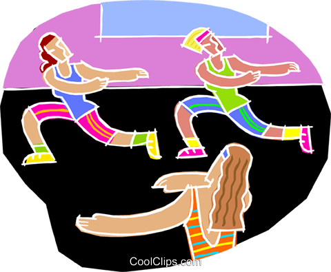 chalk style, exercise workout Royalty Free Vector Clip Art illustration vc001468