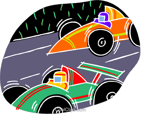 chalk style, race cars Royalty Free Vector Clip Art illustration vc001469