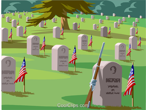 Servicemen's grave, National cemetery Royalty Free Vector Clip Art illustration vc001500