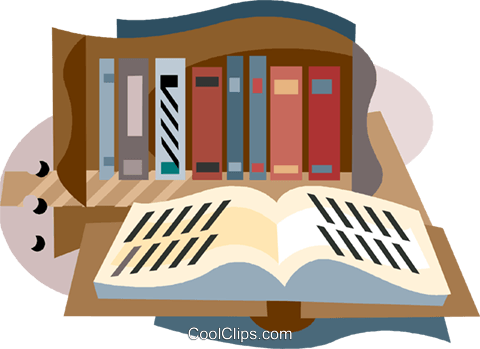 library books Royalty Free Vector Clip Art illustration vc001545