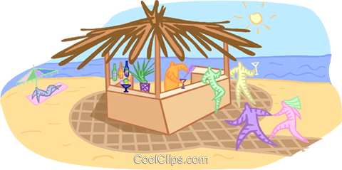 vacation at the beach Royalty Free Vector Clip Art illustration vc001596