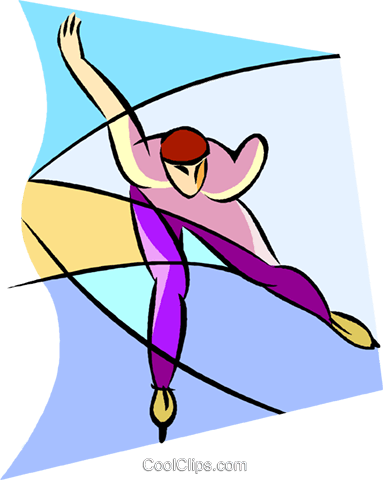 Olympic sports, speed skating Royalty Free Vector Clip Art illustration vc001632