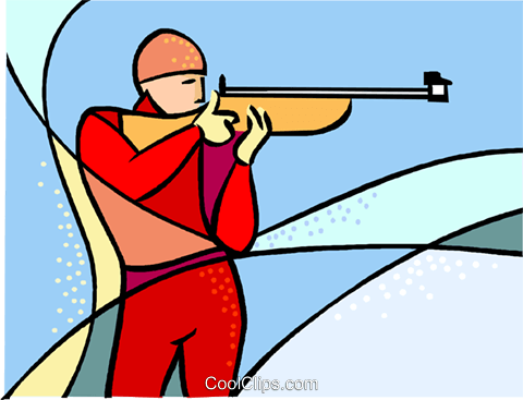 Olympic sports, marksman Royalty Free Vector Clip Art illustration vc001638