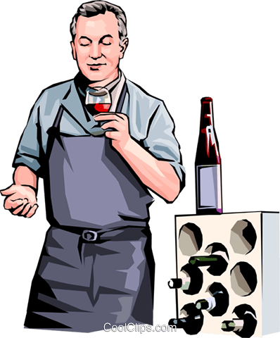 wine maker Royalty Free Vector Clip Art illustration vc001653
