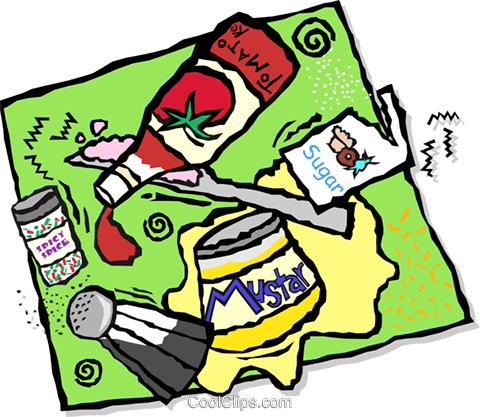 condiments Royalty Free Vector Clip Art illustration vc001674