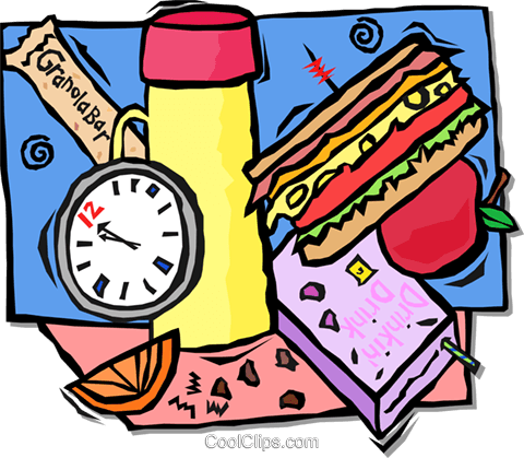 school lunch Royalty Free Vector Clip Art illustration vc001675