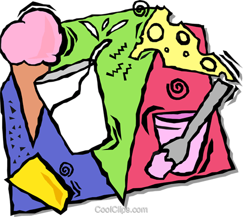 dairy products Royalty Free Vector Clip Art illustration vc001677