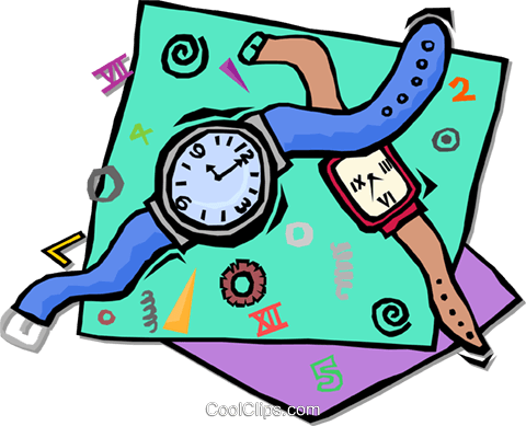 watches Royalty Free Vector Clip Art illustration vc001731