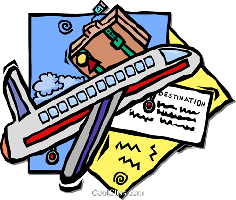 air travel Royalty Free Vector Clip Art illustration vc001733