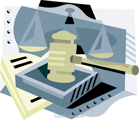 law and justice Royalty Free Vector Clip Art illustration vc001740