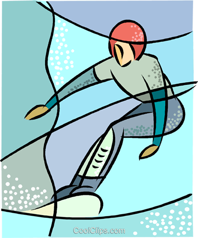 Olympic sports, snowboarding Royalty Free Vector Clip Art illustration vc001784