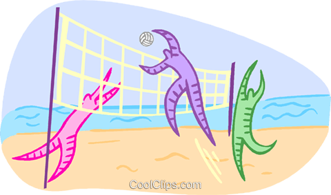 Summer sports, beach volleyball Royalty Free Vector Clip Art illustration vc001806
