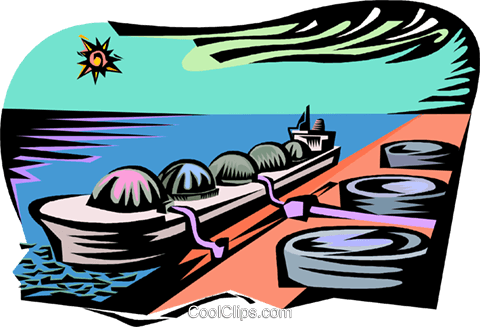 industry, ship unloading cargo Royalty Free Vector Clip Art illustration vc001810