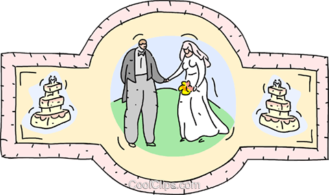 Wedding couple Royalty Free Vector Clip Art illustration vc001853
