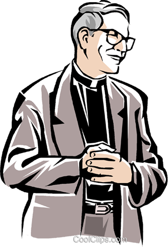 priest Royalty Free Vector Clip Art illustration vc001862