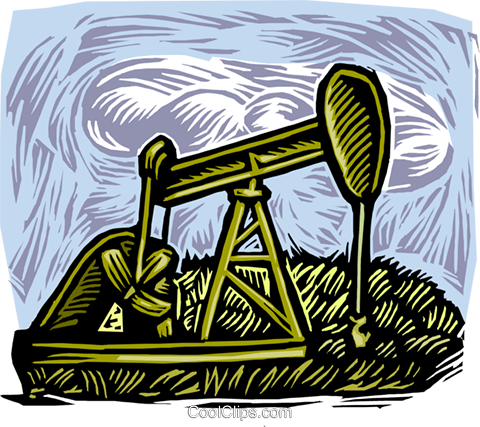 oil drilling Royalty Free Vector Clip Art illustration vc001896