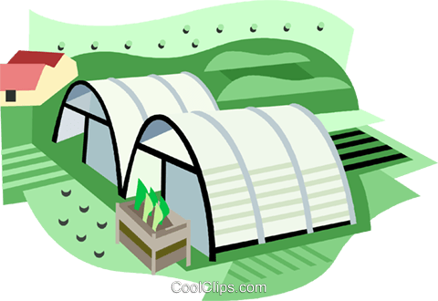 greenhouses Royalty Free Vector Clip Art illustration vc001903