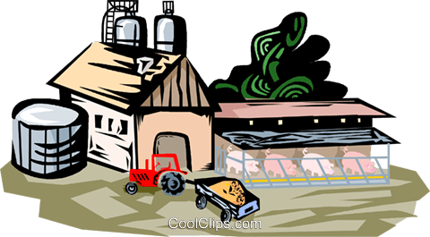 farm scene Royalty Free Vector Clip Art illustration vc001915