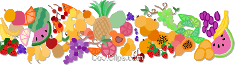 fruit border design Royalty Free Vector Clip Art illustration vc002012