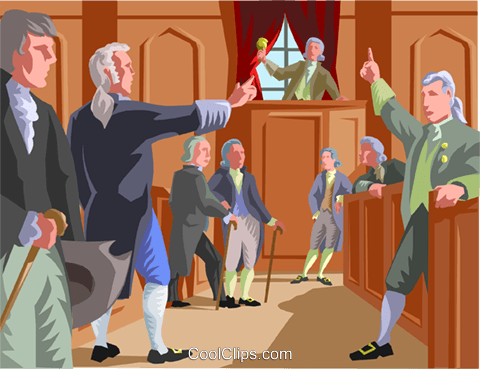 early colonials in political debate Royalty Free Vector Clip Art illustration vc002016