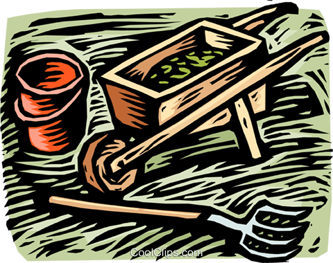gardening tools Royalty Free Vector Clip Art illustration vc002024