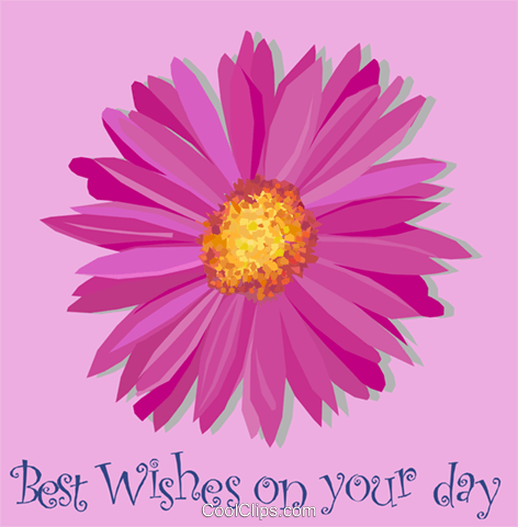 Best Wishes on your day! Royalty Free Vector Clip Art illustration vc002038
