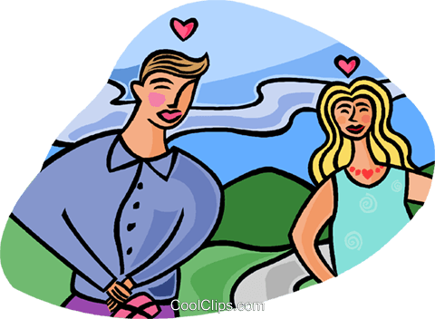 Romantic couple Royalty Free Vector Clip Art illustration vc002041