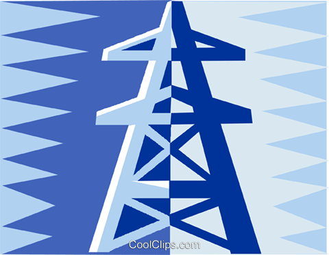 hydro tower design Royalty Free Vector Clip Art illustration vc002066