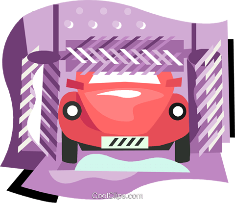 transportation, car wash Royalty Free Vector Clip Art illustration vc002078