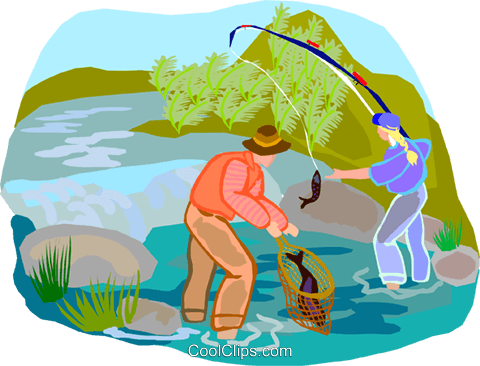 fishing Royalty Free Vector Clip Art illustration vc002102