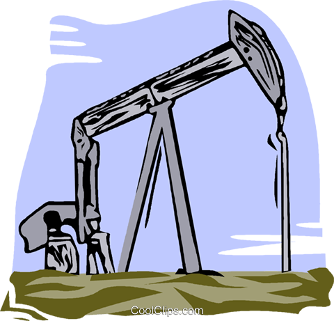oil well Royalty Free Vector Clip Art illustration vc002181