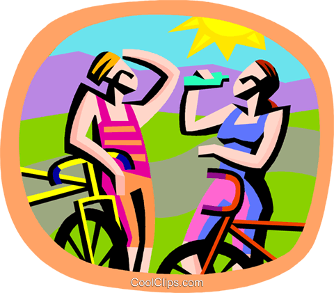cycling Royalty Free Vector Clip Art illustration vc002225