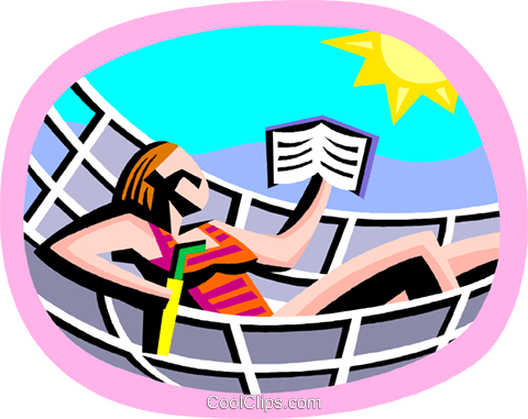 summer vacation, relaxing by the beach Royalty Free Vector Clip Art illustration vc002228