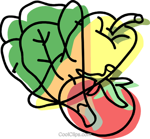 fresh vegetables Royalty Free Vector Clip Art illustration vc002264
