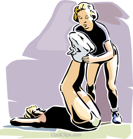 physical training Royalty Free Vector Clip Art illustration vc002284