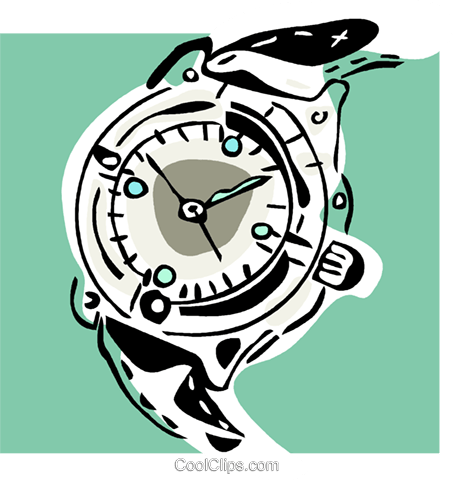 wristwatch Royalty Free Vector Clip Art illustration vc002315