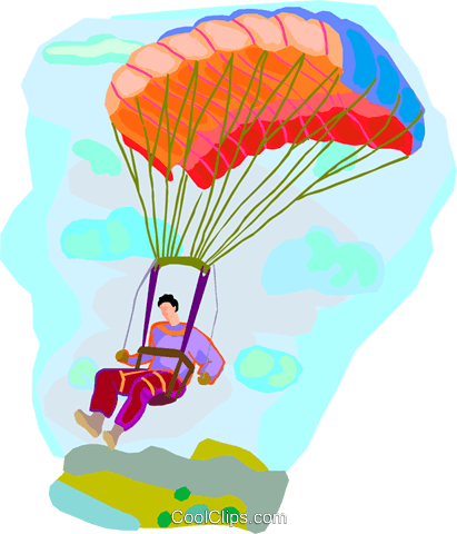 paragliding Royalty Free Vector Clip Art illustration ...