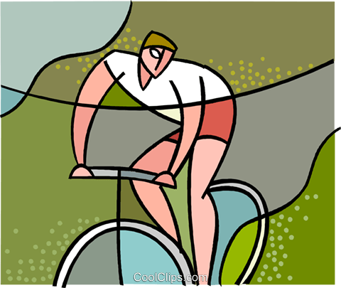 sports, cycling Royalty Free Vector Clip Art illustration vc002350