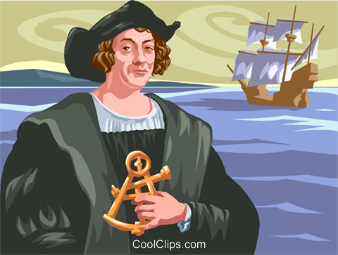 Christopher Columbus Royalty Free Vector Clip Art illustration vc002365