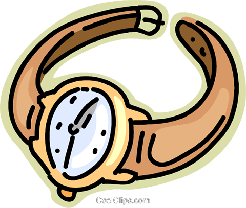 wristwatch Royalty Free Vector Clip Art illustration vc002420