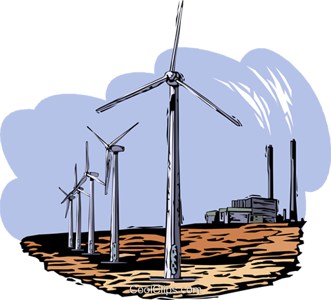 windmills Royalty Free Vector Clip Art illustration vc002458