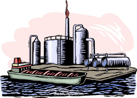 oil refinery Royalty Free Vector Clip Art illustration ...