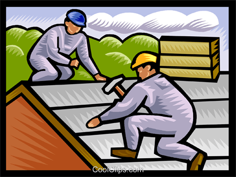 roofers, construction Royalty Free Vector Clip Art illustration vc002486