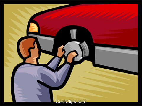automobile repair Royalty Free Vector Clip Art illustration vc002490