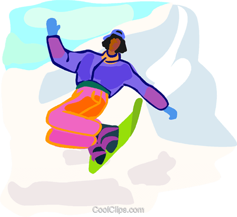 winter sports, snowboarding Royalty Free Vector Clip Art illustration vc002500