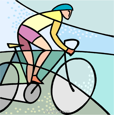 Sports, cycling Royalty Free Vector Clip Art illustration vc002572