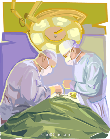 surgeons Royalty Free Vector Clip Art illustration vc002593